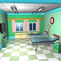 max cartoon emergency room