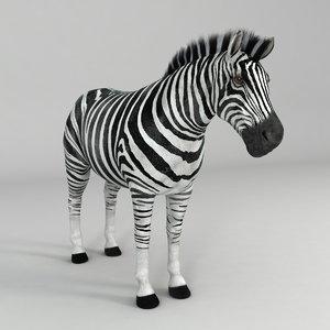 realistical zebra horse 3d max