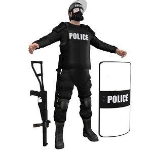 riot police officer max