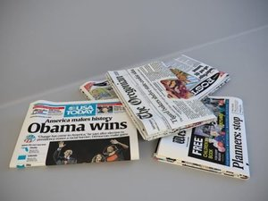 newspapers paper news 3d model