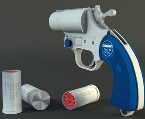 25mm pistol 3d obj