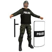 max riot police officer
