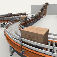 3d warehouse conveyor belt model