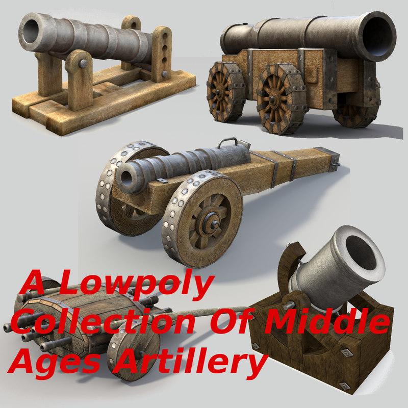 3d middle ages artillery