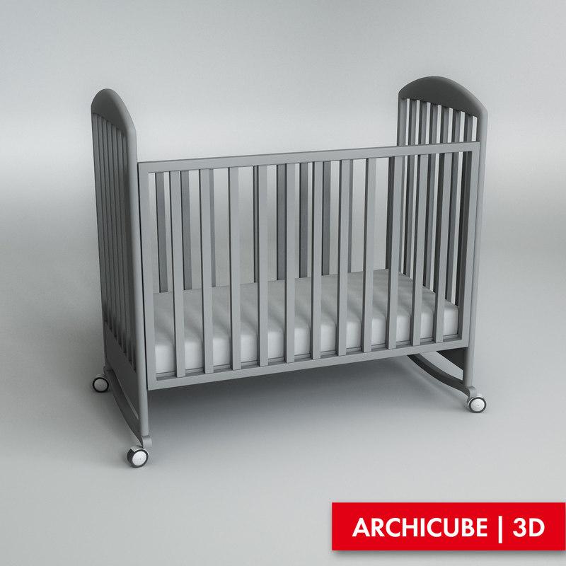 3d baby cot