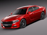 dodge charger 2015 obj