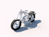 harley chopper 3ds