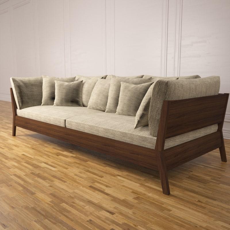 3d model of outdoor sofa