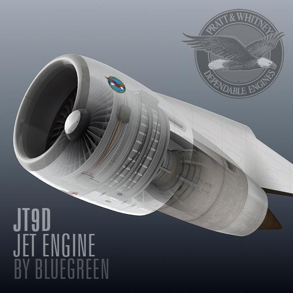 3d jt9d jet engine model