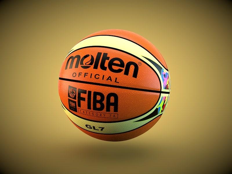 gl7 official basketball ball 3d model