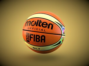 gl7 official basketball ball 3d model