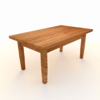 Wooden Table Low Poly