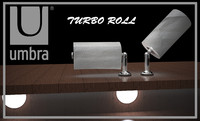 The Turbo Roll paper towel holder
