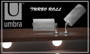 umbra paper towel holder 3d model
