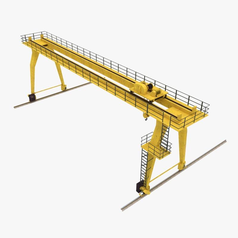 gantry crane 3d obj