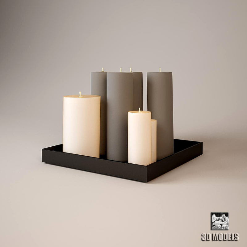 3dsmax eichholtz candles modern