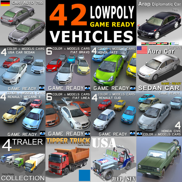 3d model cars vehicles