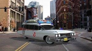 3d car ghostbusters model