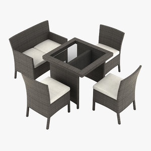 3d model garden furniture chair table