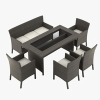 max garden furniture armchair table