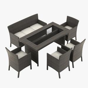 max garden furniture armchair table