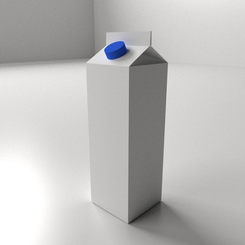 milk carton 3ds