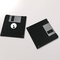 floppy disk 3 5 3d model
