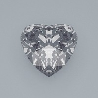 heart cut gemstone diamond obj