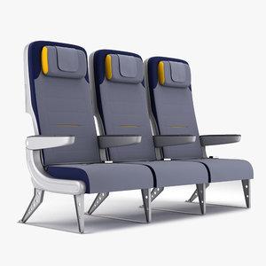 3d economy airplane seat model
