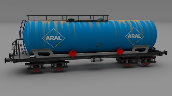 3d model er train car aral
