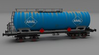 Aral rusty train tanker car