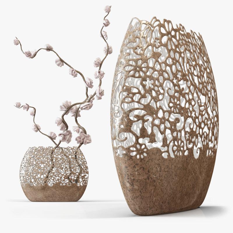 twig vase 3d max