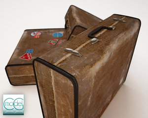 old travel suitcase 3d 3ds