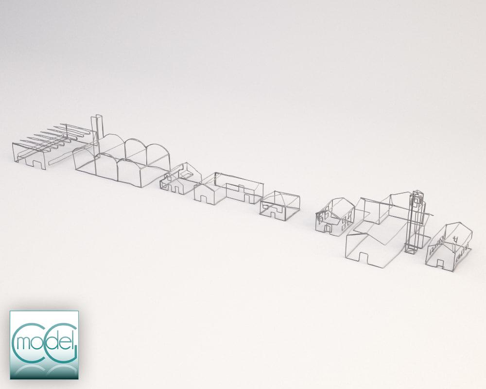 object set 3d 3ds