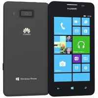 huawei ascend w2 black 3d 3ds