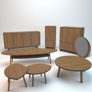 3d table cabinet model