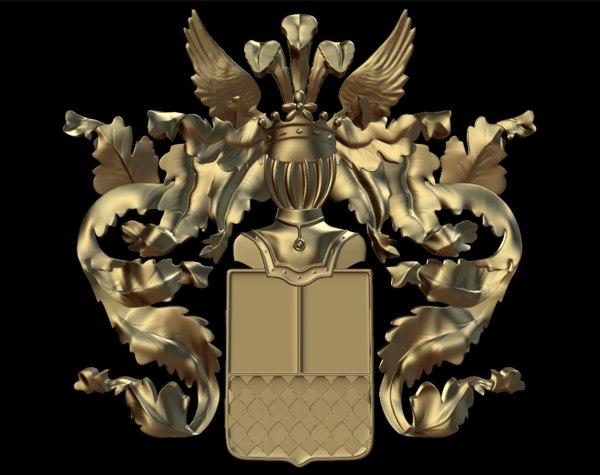 coat arms 3d blend