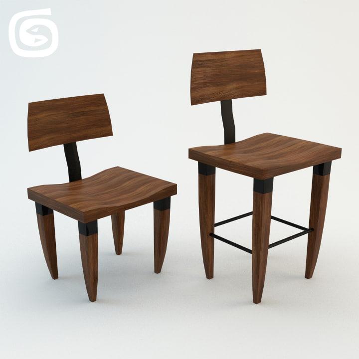 lehrecke chair 3d ma