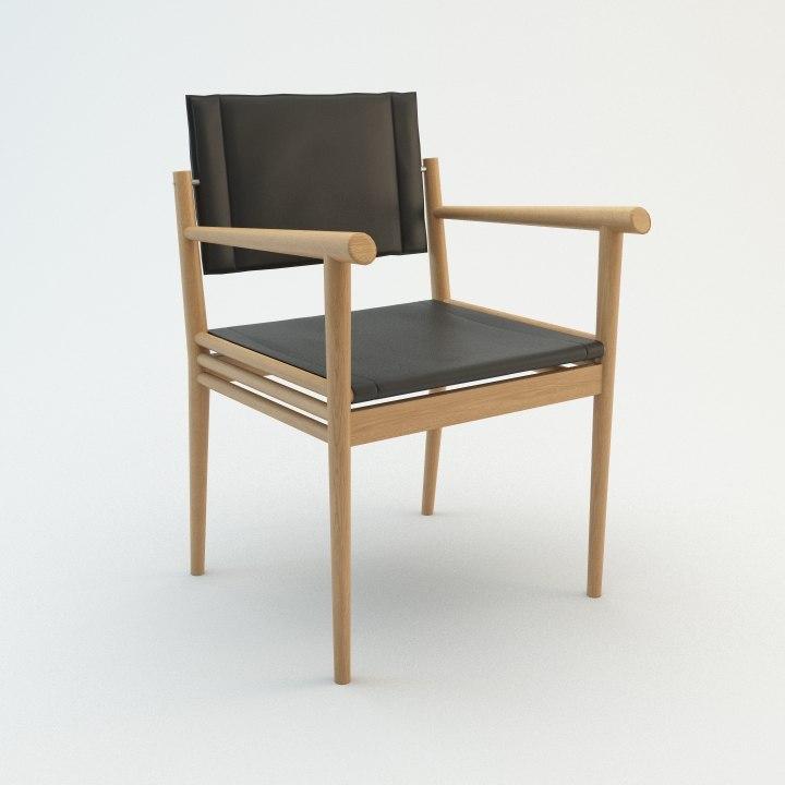 3d model ecart chair