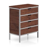 wooden cabinet metal frame 3d max