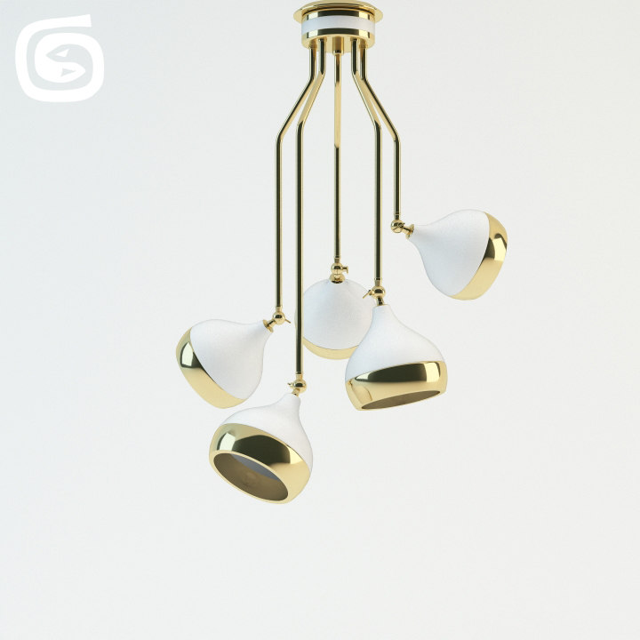 3d model hanna suspension lamp