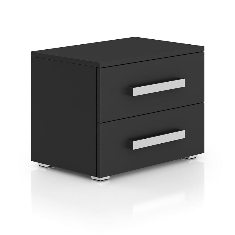 c4d dark grey bedside