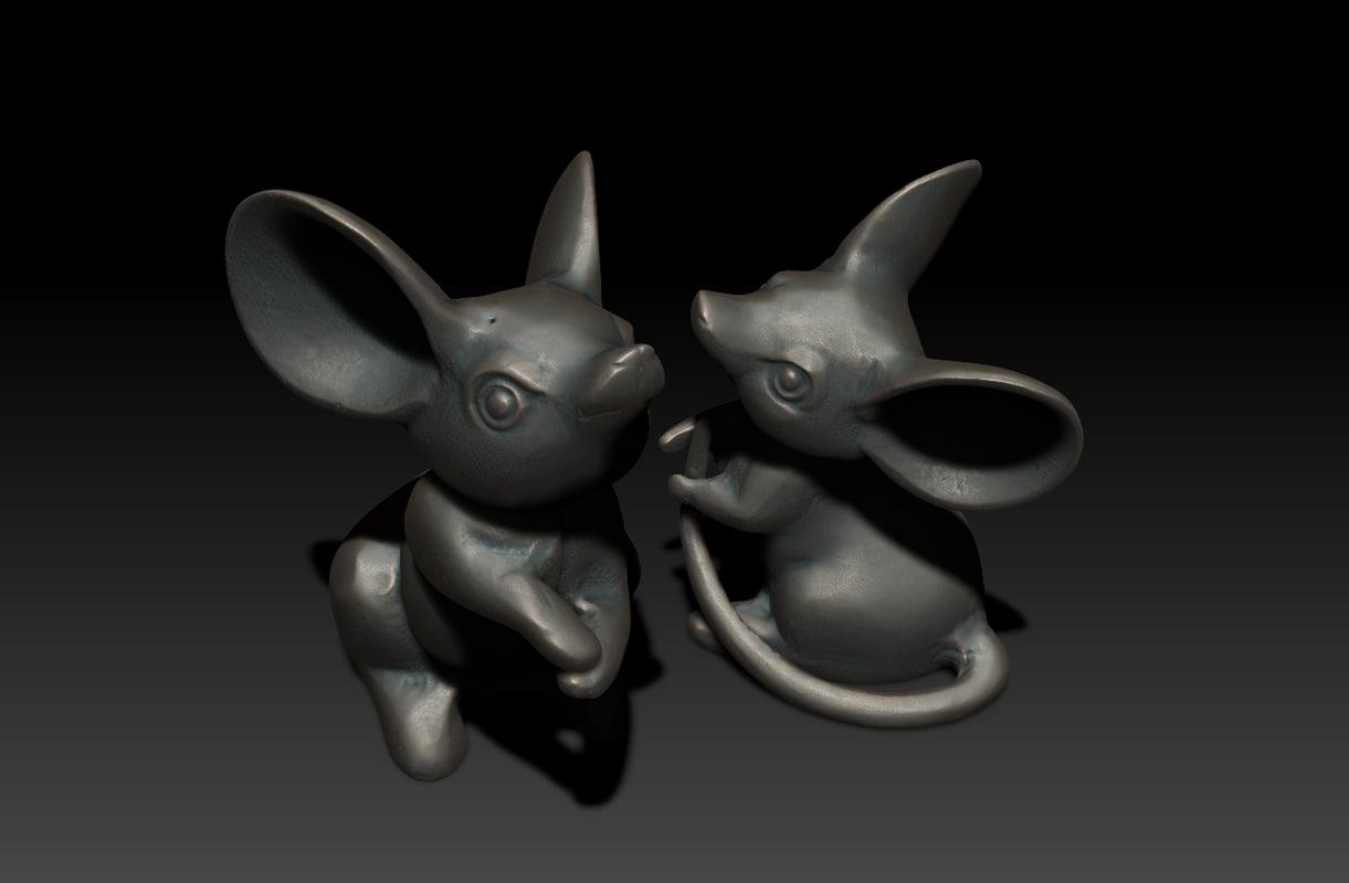 katabori netsuke mice 3d model