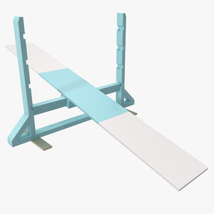 dog agility teeter totter 3d model