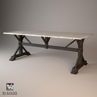 eichholtz table dining 3d model