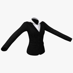 3d female jacket model