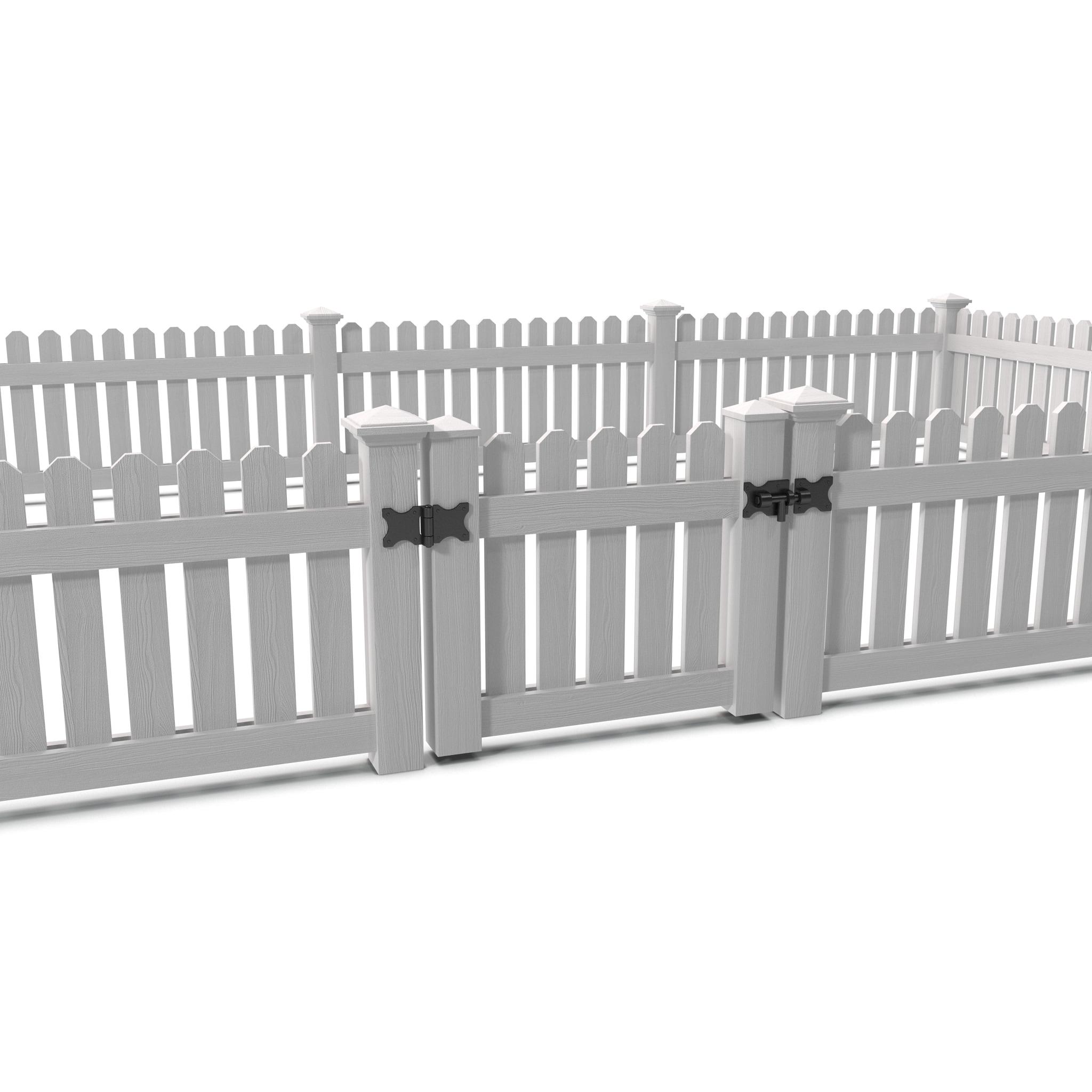 3d model picket fence