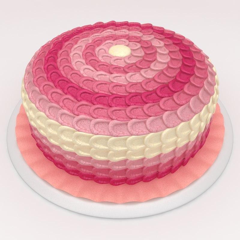 max pink ombre petal cake