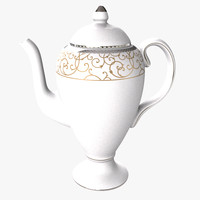 3d model wedgwood coffee pot