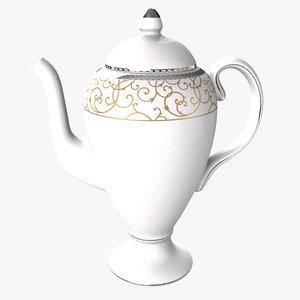 3d model wedgwood coffee pot